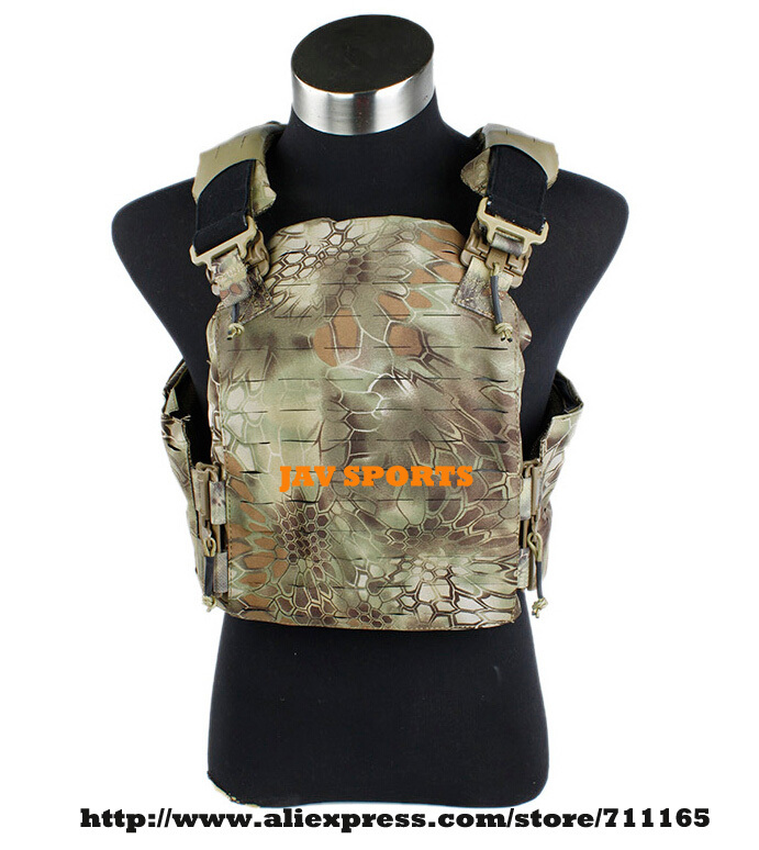 TMC Strandhogg Plate Cut Plate Carrier Nylon Kryptek Mandrake Tactical Vest+Free shipping(SKU12050213) tmc vest 94k m4 pouch plate carrier tactical military vest matte coyote brown free shipping sku12050549