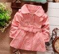 Nuevo 2015 Niños Prendas de abrigo de Primavera otoño Babi Chicas Chaquetas Abrigos ropa de Bebé Niñas niños ropa Al Por Menor 1 Unids Q165