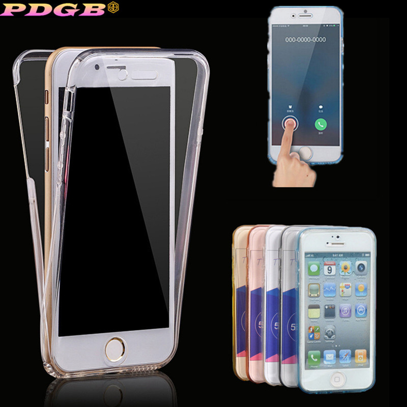 bee6aab779 2 in 1 Clear TPU Case For iPhone 4 4S 5 5S SE 6 6s 7 8 Plus Cases iPhone X  XS Max XR Full body Coverage Touch screen Soft Cover