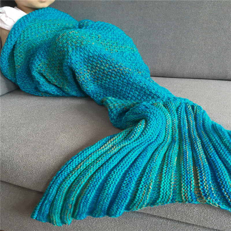 9 Color Hot Sell Super Soft Sleeping Bed Handmade Mermaid Tail