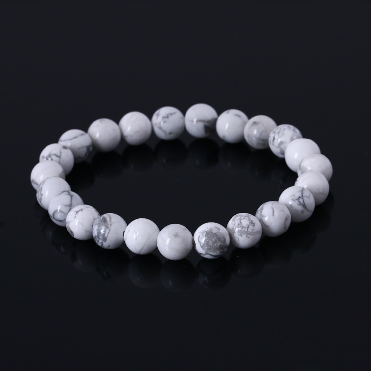 Natural Stone Strand Bracelets With Stones Love Casual Men Jewelry White Turquoise Beads Bracelets & Bangles for Women 2016 Gift