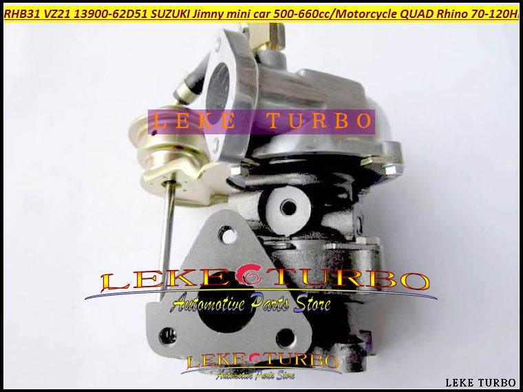 Free Ship Turbocharger RHB31 VZ21 13900-62D51 Turbo For SUZUKI 4JF1 Jimny Grand Vitara Mini 500-660cc K6A Motorcycle QUAD RHINO