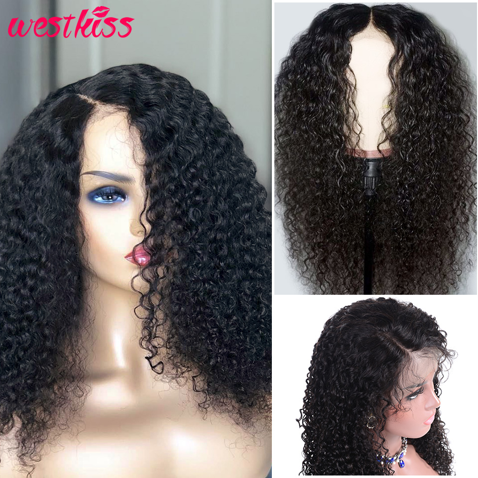 Human Hair Lace Wigs Diplomatic West Kiss Curly Wig Brazilian Lace Front Human Hair Wigs With Baby Hair 4x4 Lace Front Wig Pre Plucked Hairline Remy Hair Wig 100% Guarantee
