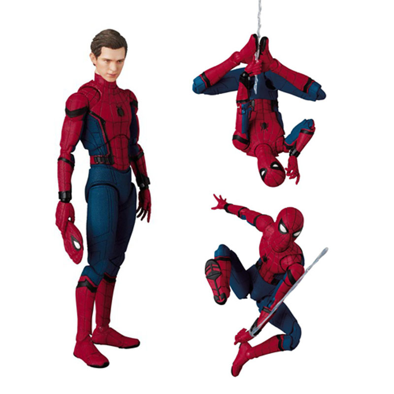 047 Spider-Man Homecoming The Spiderman Tom Holland PVC Action Figure Collection Toy 15CM superhero spiderman movable figure spider man homecoming pvc action figure model toy boxed