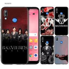Black Silicone Case Bag Cover for Huawei P30 P20 P10 P9 P8 Mate 10 20 Lite 2017 Mini Pro P Smart Plus 2019 Veil Brides BVB(China)