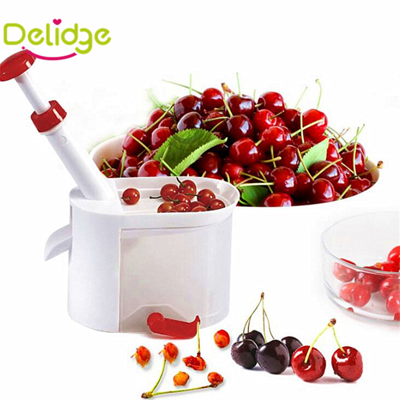 1 pcs Cherry Corer Plastic Cherries Corer Peeler Grape Clip Olive Peelers Fruits Corer Machine With Handle