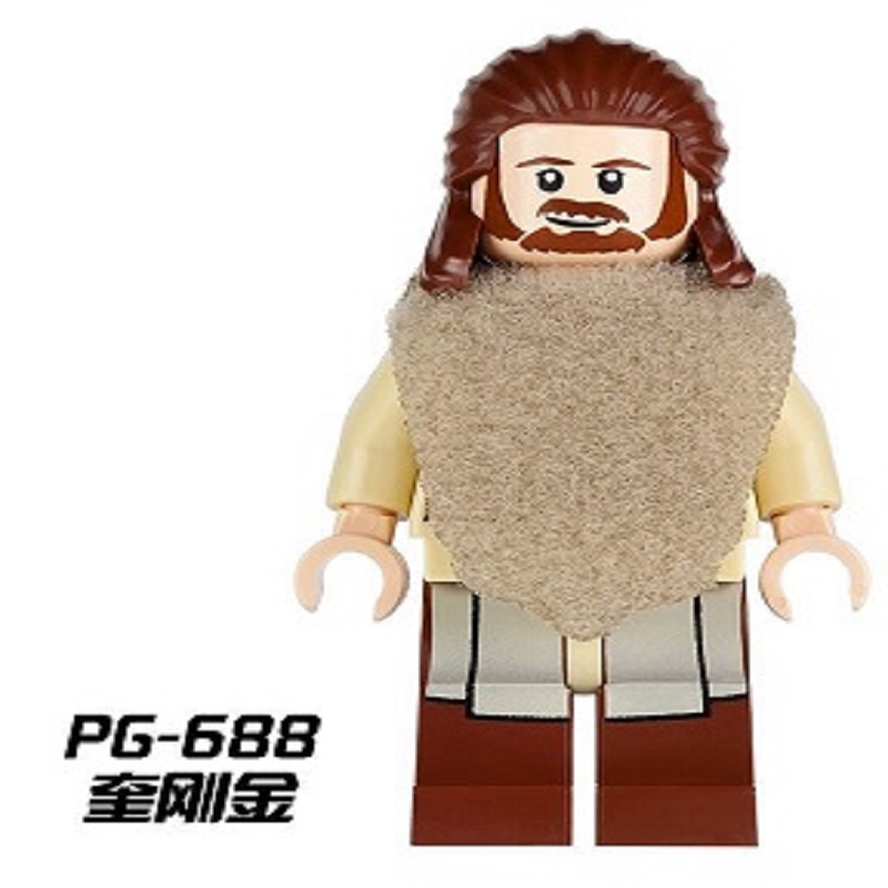 Single Sale Qui-Gon Jinn With Green Lightsaber Star Wars figures Assemble Building Blocks Collection Toys For Children PG688