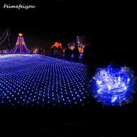 Feimefeiyou 1 5MX1 5M 96leds LED Home Outdoor Holiday Waterproof Christmas Xmas Party Wedding 8 Modes