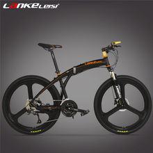 27 Speed Folding Bicycle, Front & Rear  Disc Brake, 26 Inch Integrated / Spoke Wheel,  Suspension Fork, Magnesium Alloy Rim