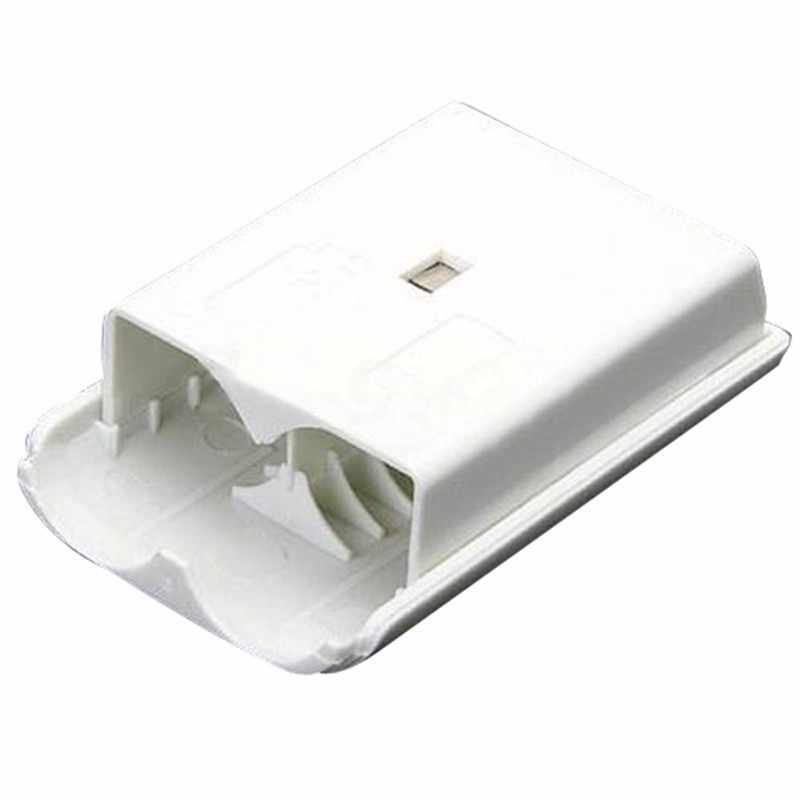 AAแบตเตอรี่ที่ครอบคลุมกรณีสำหรับX Box 360คอนโทรลเลอร์ไร้สายกลับประตูกรณีเชลล์แพ็คชุดสำหรับXbox360 Gamepadจอยสติ๊กเกมอุปกรณ์เสริม