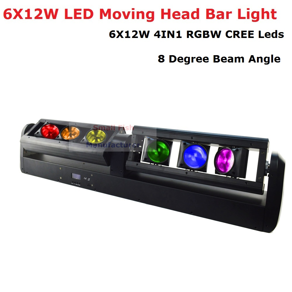 Free Shipping 6X12W RGBW 4IN1 LED Moving Head Bar Light High Quality 90W Bar Beam Moving Head Stage Lights 90 240V New Design