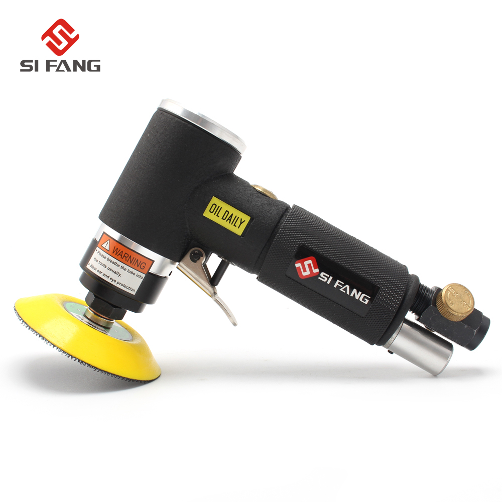 50mm 75mm 90 Degree Mini Air Sander Kit Pneumatic Air Tools Buffer Dual Action Orbital Polisher