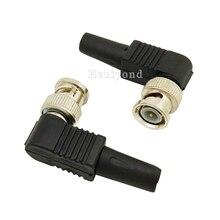 10 stücke RG59 BNC stecker pin Solderless Gerade Winkel Stecker für Cctv kamera koaxialkabel steckverbinder zubehör