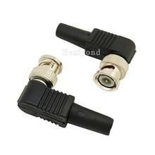 10 sztuk RG59 BNC męski wtyczka bez lutowania prosty kąt złącze do KAMERA TELEWIZJI PRZEMYSŁOWEJ złącze kabla koncentrycznego męskiego na akcesoria