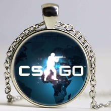 Games CS GO Glass Chain Necklace For Men CSGO Anime Neckless Male Collier Homme Statement Pendants Jewelry Best Gift For Friends
