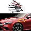1-par Para AMG 4MATIC 4 20 TURBO Emblema Logotipo Lado Fender Etiqueta Para Mercedes Benz A180 W176 W169 a200 A250 A209 A45 A150 A160 A209