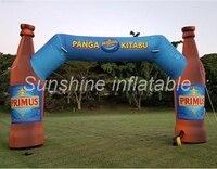 Индивидуальные светодиодной подсветкой надувные бутылки арки финишной линии с логотип печать для рекламы