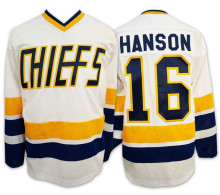 d3efb49bf Ice Hockey Jersey Charlestown Chiefs 16 Jack Hanson Slap Shot Movie Jersey  White Blue All stitched