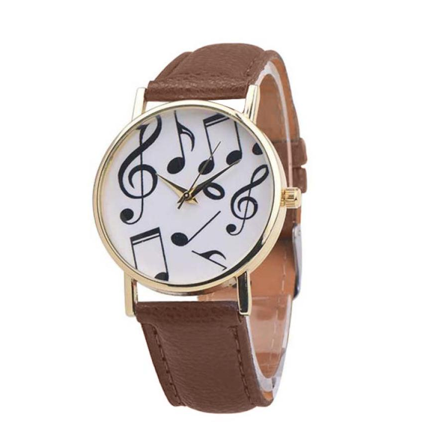 Watch 2017 relogio masculino Musical Notes Women Men Leather Band Analog Quartz Dial Wrist Watch Gift Dropship 17JUL4 adjustable wrist and forearm splint external fixed support wrist brace fixing orthosisfit for men and women