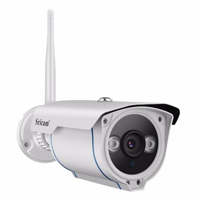 SRICAM SP007 1080 P كاميرا شبكية عالية الوضوح WIFI Onvif 2.4 P2P للهواتف الذكية للماء Vandalproof 15 m IR في الهواء الطلق كاميرا مراقبة للمنزل