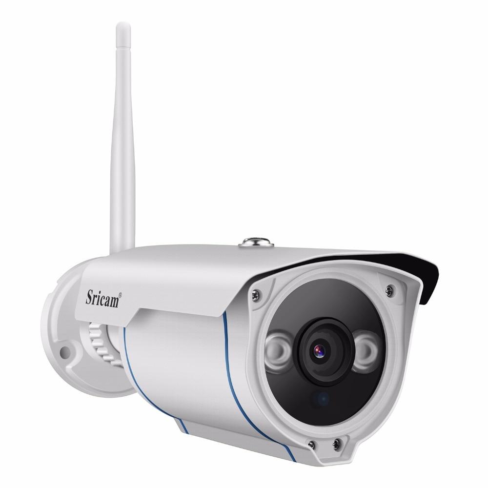 SRICAM SP007 720 p HD IP Caméra WIFI Onvif 2.4 P2P pour Smartphone Étanche Anti-Vandalisme 15 m IR Extérieurs pour La Maison caméra de sécurité