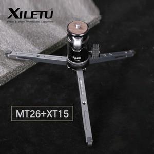 Мини штатив Ulanzi XILETU из алюминиевого сплава, гибкий держатель для камеры с поворотной шаровой головкой на 360 ° для камеры Canon Nikon Sony DSLR