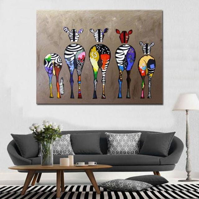 Einfache zebra inkjet dekoration malerei wohnzimmer schlafzimmer ...