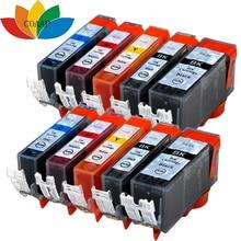 10pk Compatible ink cartridge for canon PGI 220 CLI 221 Pixma IP3600 IP4600 IP4700 MP630 MP640 MP980 MP990 MX860 MX870 Printer 5pcs pgi 520 cli 521 compatible ink cartridges for canon pixma ip3600 ip4600 ip4700 mx860 mx870 printer pgi520 cli521 pgi 520