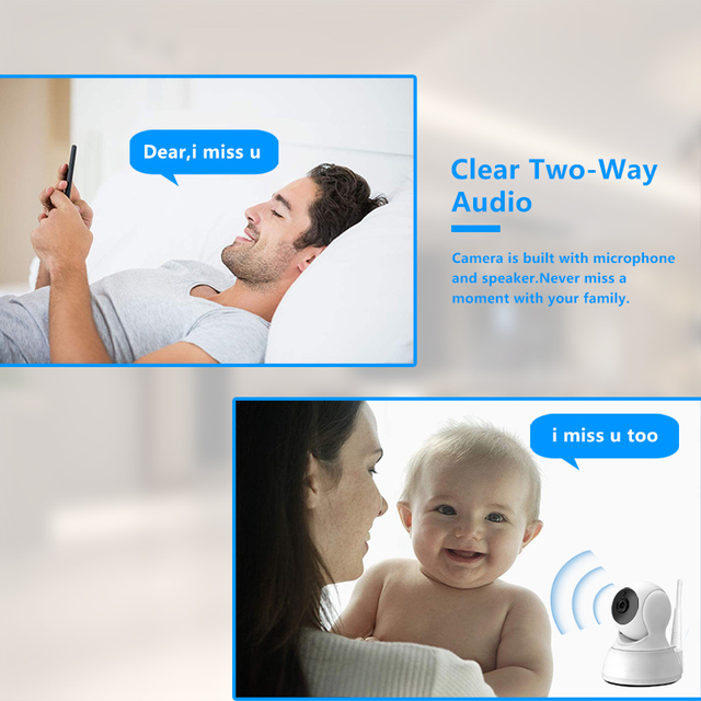 IP Camera Home Security Two Way Audio HD 720P Wireless Mini Camera 1MP Night Vision CCTV WiFi Camera Baby Monitor 3