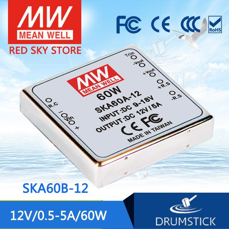 цена на Hot sale MEAN WELL SKA60B-12 12V 3.33A meanwell SKA60 12V 60W DC-DC Regulated Single Output Converter