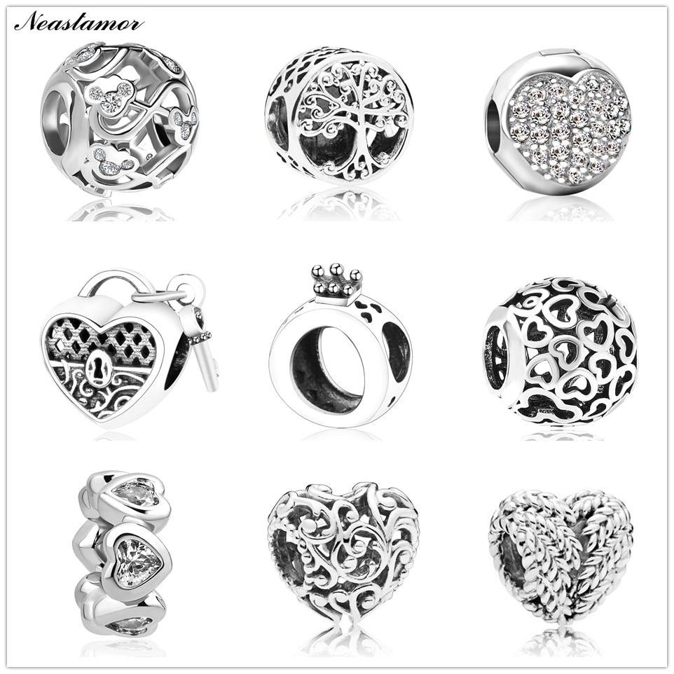 Полый Микки жизнь дерево подвеска в форме короны подходит Pandora браслет или ожерелье с шармами брелок ювелирные изделия для женщин мужчин решений