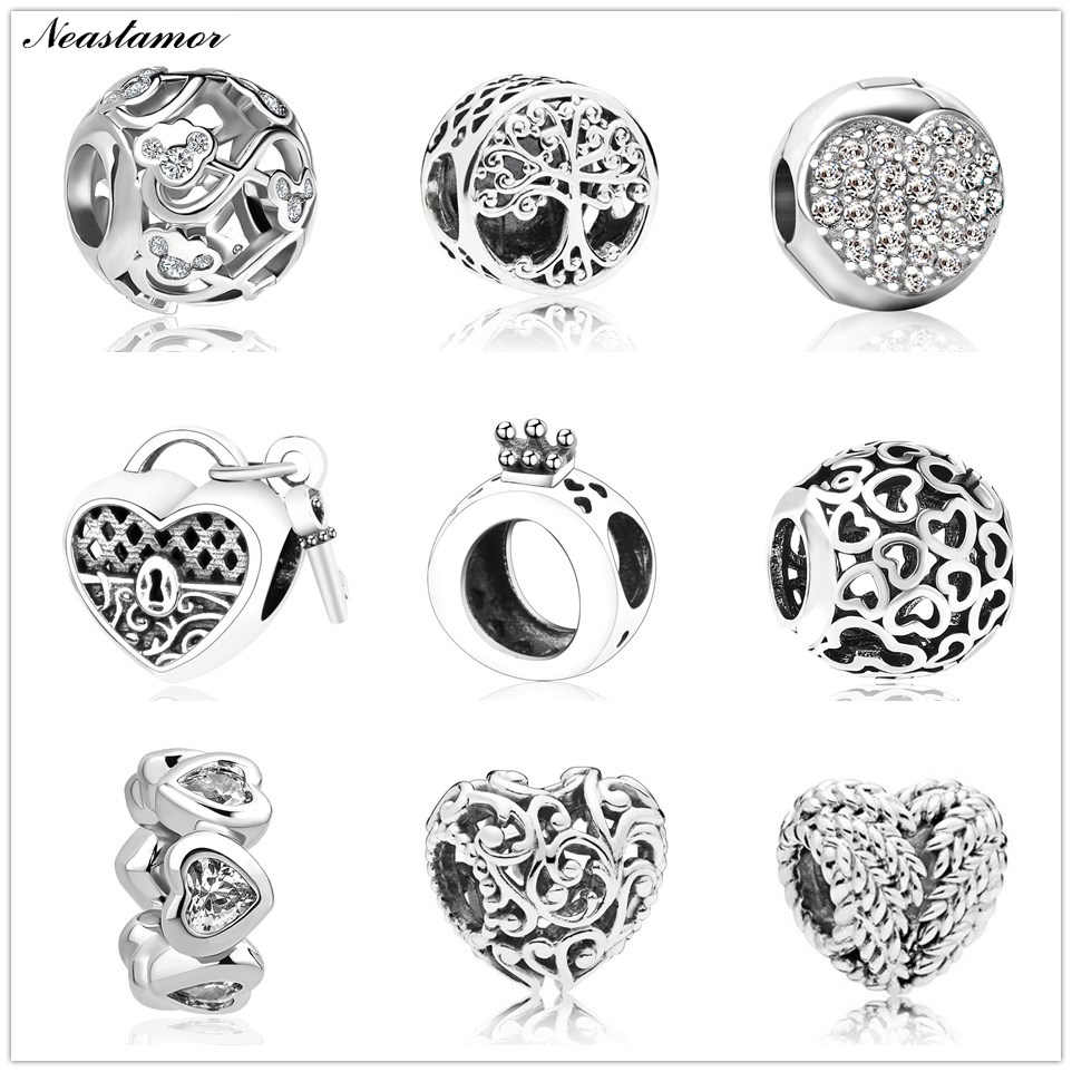 2019 new hollow Mickey life tree crown Bead fit Original Pandora charms Bracelet necklace trinket jewelry for women man making