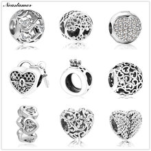 2019 new hollow Mickey life tree crown Bead fit Original Pandora charms Bracelet necklace trinket jewelry for women man making(China)