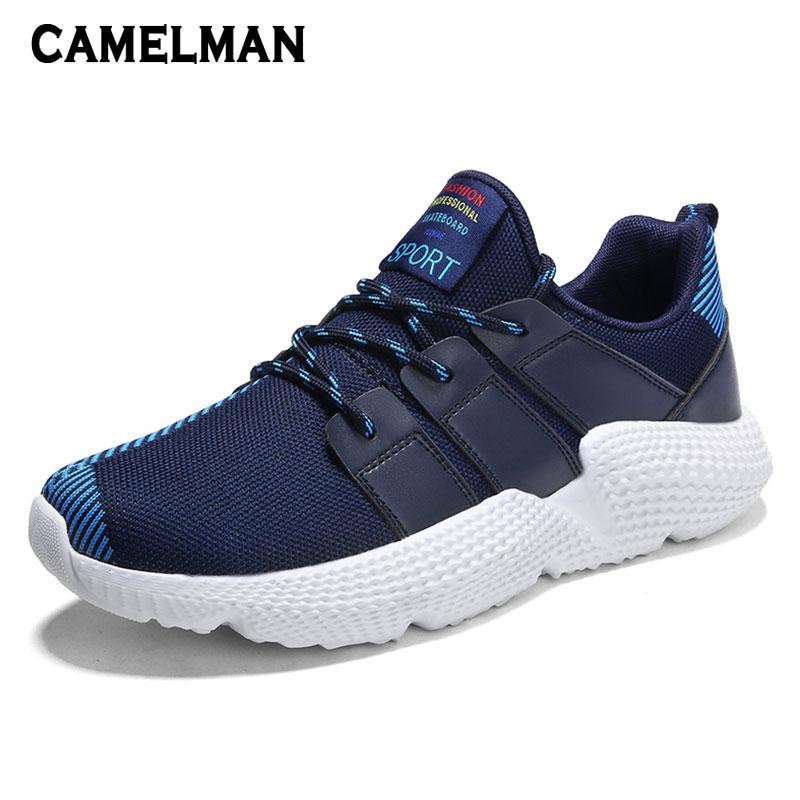 Taille 3948 Chaussures Homme Designer Mode Sports Pour Hommes Plus heihong Adulte Air Respirant Maille De Black blue Plein Nouveaux Appartements Jogging Baskets HIY2WED9