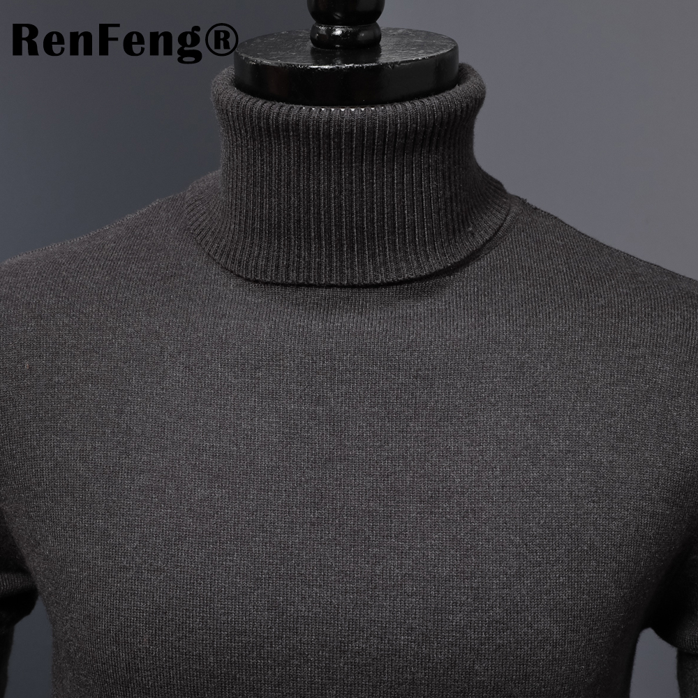 Winter Thick Warm Cashmere Sweater Men Turtleneck Mens Sweaters 2018 Slim Fit Pullover Men Classic Wool Knitwear Pull Homme (10)
