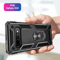 Antifall Finger Ring Car Holder Case for Samsung Galaxy S10 S10E Plus S8 S9 Note 8 9 Plus Back Cover for Samsung A30 A50 A70 A10