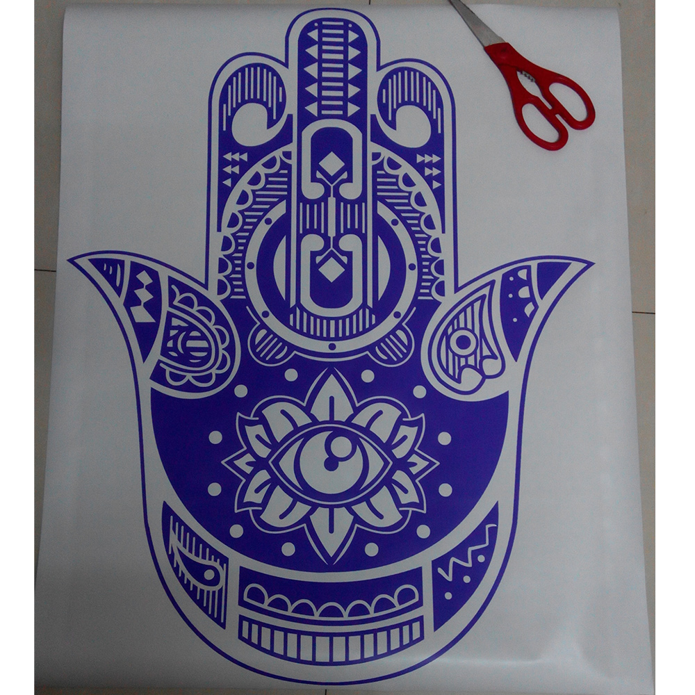 New Hamsa Wall Decal India Amulet Protection Yoga Buddhism Hand Eye of Fatima 56x73cm