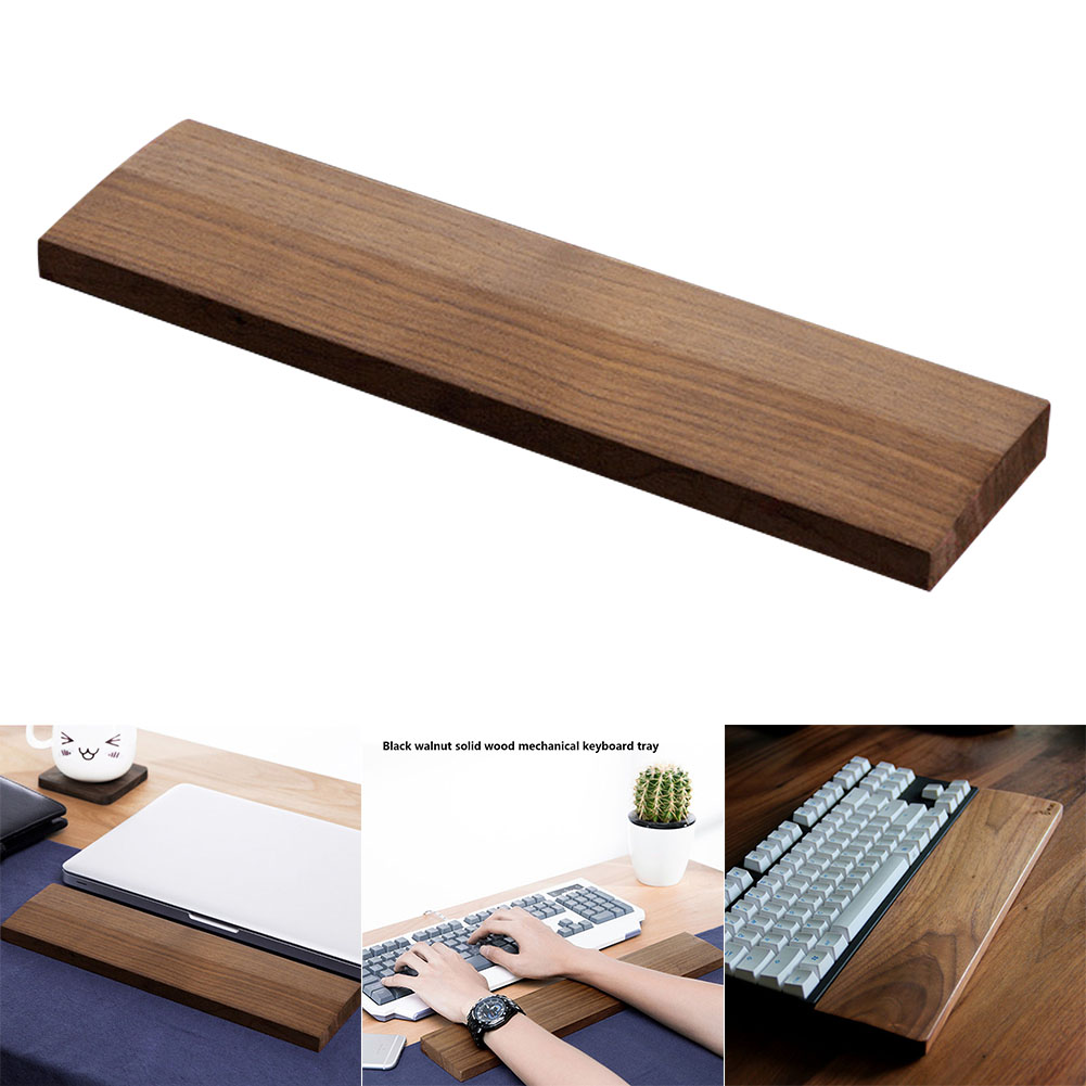 Wooden Mechanical Keyboard Wrist Rest Pad Support Hand for HJ55