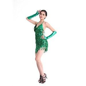 Image 5 - 라틴 댄스 드레스 특별 제공 라틴 댄스 드레스 여성 라틴 댄스 의상 라틴 살사 드레스 프린지 드레스