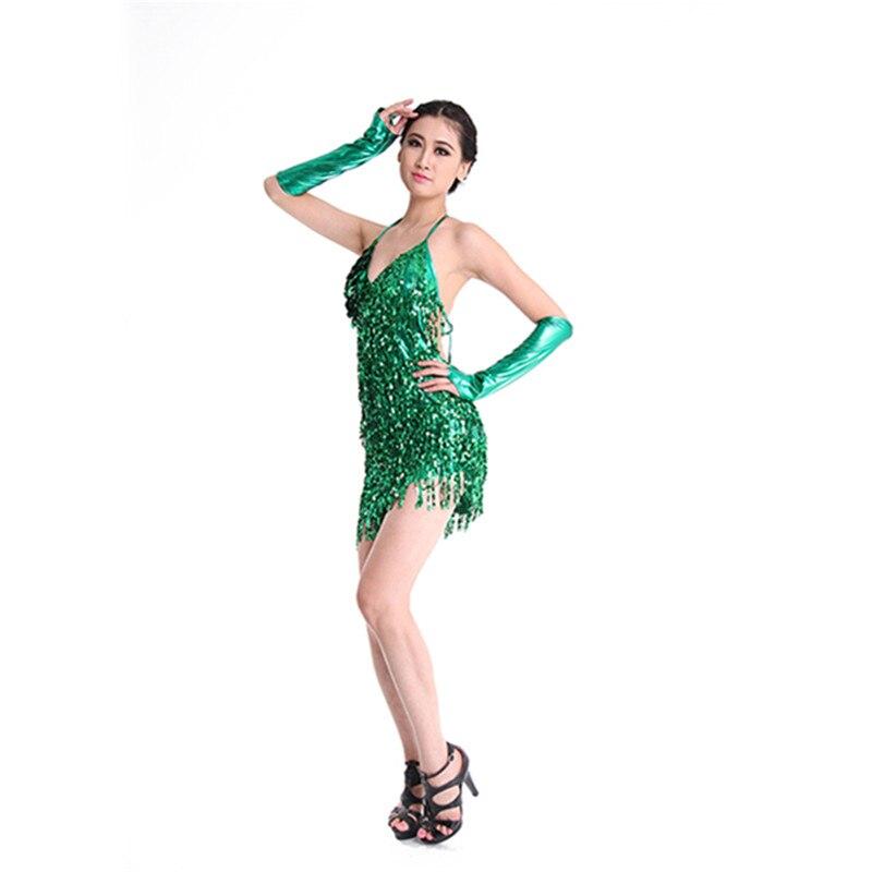99becc6c Diamantes de imitación vestido de baile latino para mujer 2019 nuevo traje  adulto Latina competencia de