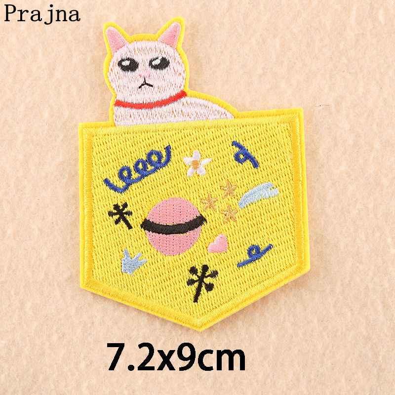 Prajna Bestickt Patches Niedlichen Tier Dekoration Cartoon Katze Kaninchen Bär Patches Eisen Auf Kinder Kleidung Schokolade Aufkleber Neue