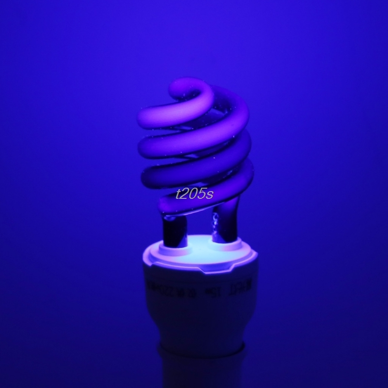 E27 5/15/20W UV Ultraviolet Fluorescent Blacklight CFL Light Bulb Lamp 220V Q16 Dropship