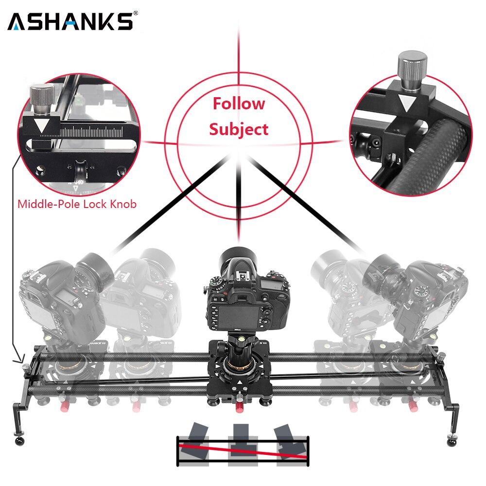 ASHANKS S2 Câmera Deslizante de Pista De Fibra De Carbono Tubo de Ângulo Ajustável Follow Focus Pan para DSLR Câmera de Vídeo Estabilizador DV Tiro