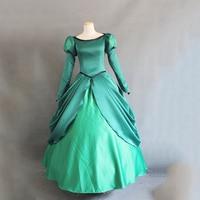 The Little Mermaid Cosplay Princess Ariel Costume Women's Dress Length Skirt Rode Evening Dress Wedding Gown