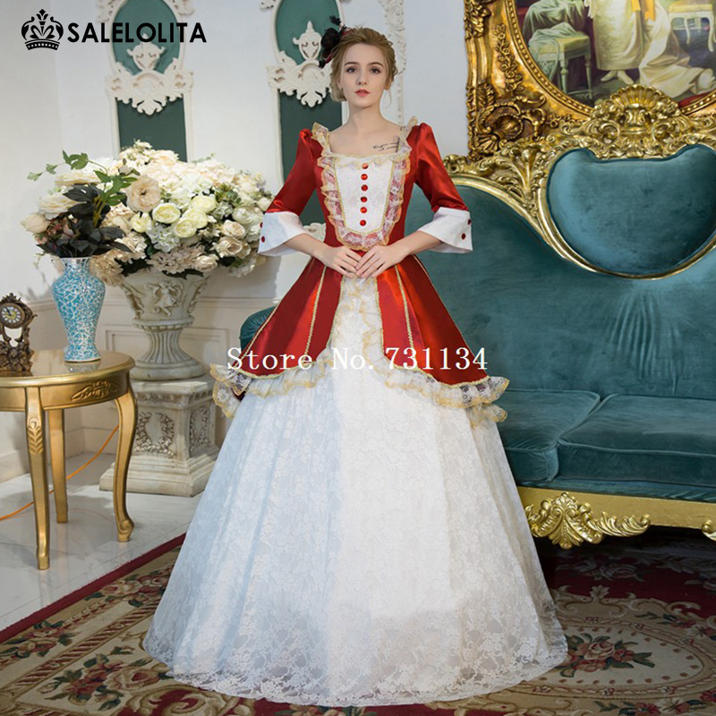 New Arrival Red Rococo Baroque Marie Antoinette Ball Gown Dresses ...