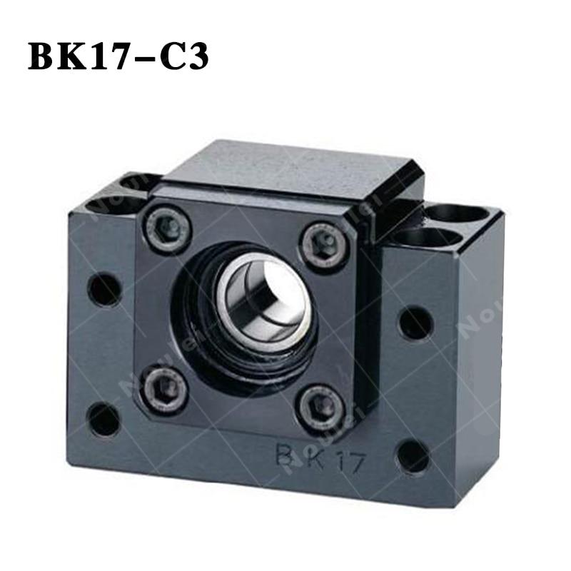 BK17 C3 fixed end ballscrew support Slide Linear ball screw noulei ballscrew support bk17 bf17 c3 linear guide screw ball screws end supports cnc