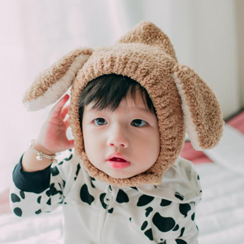 Winter Rabbit Ear Kids Baby Hats Lovely Infant Toddler Girl Boy Beanie Cap Warm Baby Hat Earflap Caps