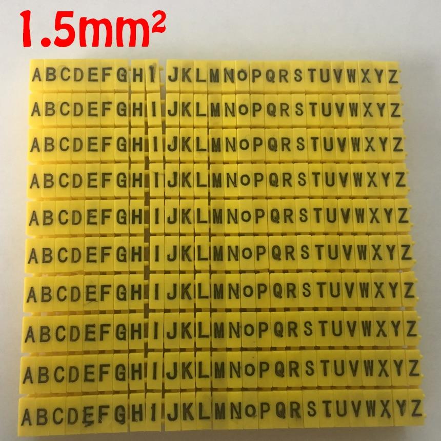 390pcs/Lot A-Z ABCDEFGHIJKLMNOPQRSTUVWXYZ English Letter 1.5mm2 CAT 6 Clip Network Ethernet Wire Number Label Tube Cable Marker 1200pcs ec 0 1 5mm2 arabic numeral 1 6 letter pattern pvc flexible print sleeve concave tube label wire cable marker