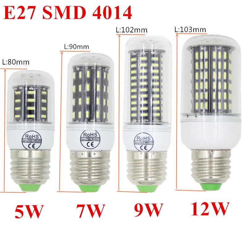10pcs Hight power LED lamp corn Bulb 5W 7W 9W 12W SMD4014 E27/E14 LED light 360 degrees Beam Angle spotlight lamps bulb