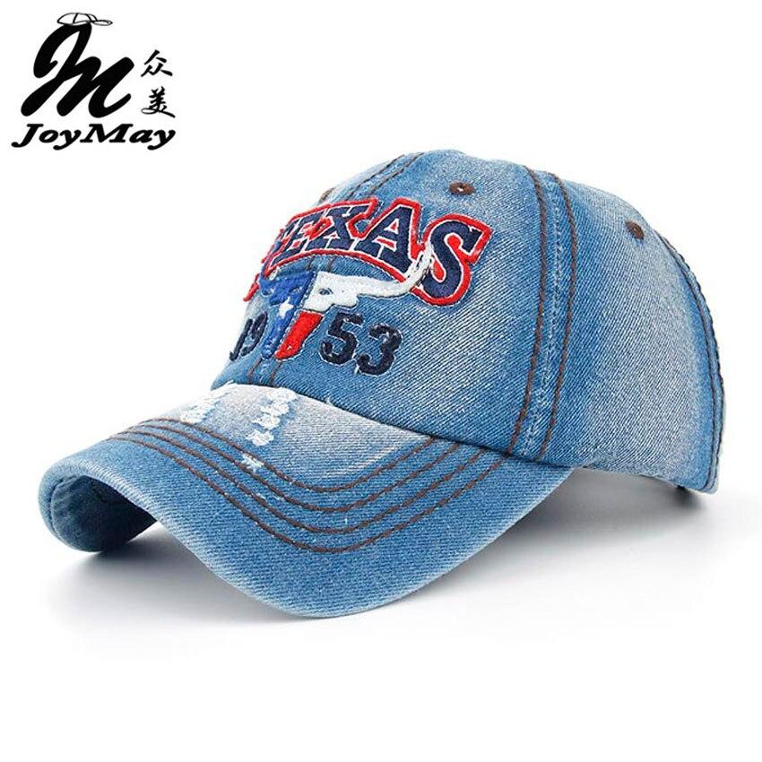 Prix pour Joymay 2015 New Texas Bull D'été Casquettes de Baseball pour Hommes Snapback Casquettes Femmes Casual Réglable Lettres Chapeaux B259